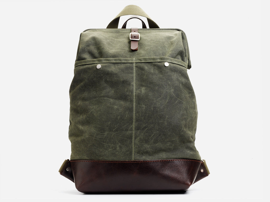 9d030738c99 Olive Waxed Canvas Backpack- Fenix Toulouse Handball