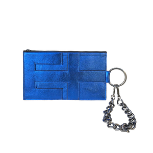 Pouch in Metallic Cobalt