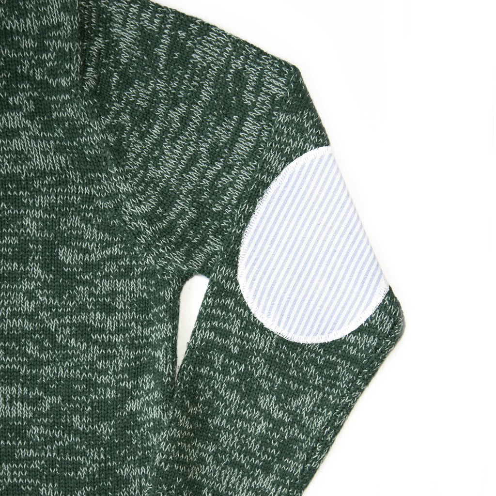 Scott Sweater - Hunter Green Melange