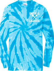 Oak Hill Long Sleeve Tie Dye Tee Lax 2018