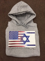 USAISRAELSTRONG Hooded Sweatshirt