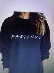 Jerzee Crew Neck  P.H.R.I.E.N.D.S    (aephi on the back)