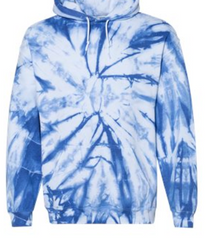 Tie Dye Hooded Sweatshirt with Front & Back Logo