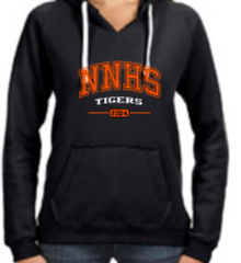 Next level Girls Hoodie with contrasting tie