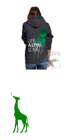 Aephi American Apparel Full Zip Sunshine Giraffe Logo (Please allow 4 weeks for delivery)