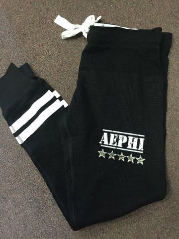 Aephi Military Logo with White Stars on Jogger