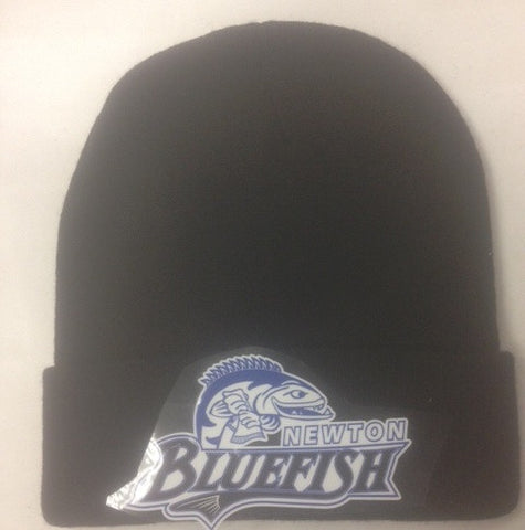 Blue Fish Embroidered Knit Hat