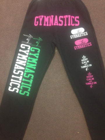 Gymnastics Sweatpants multi screens