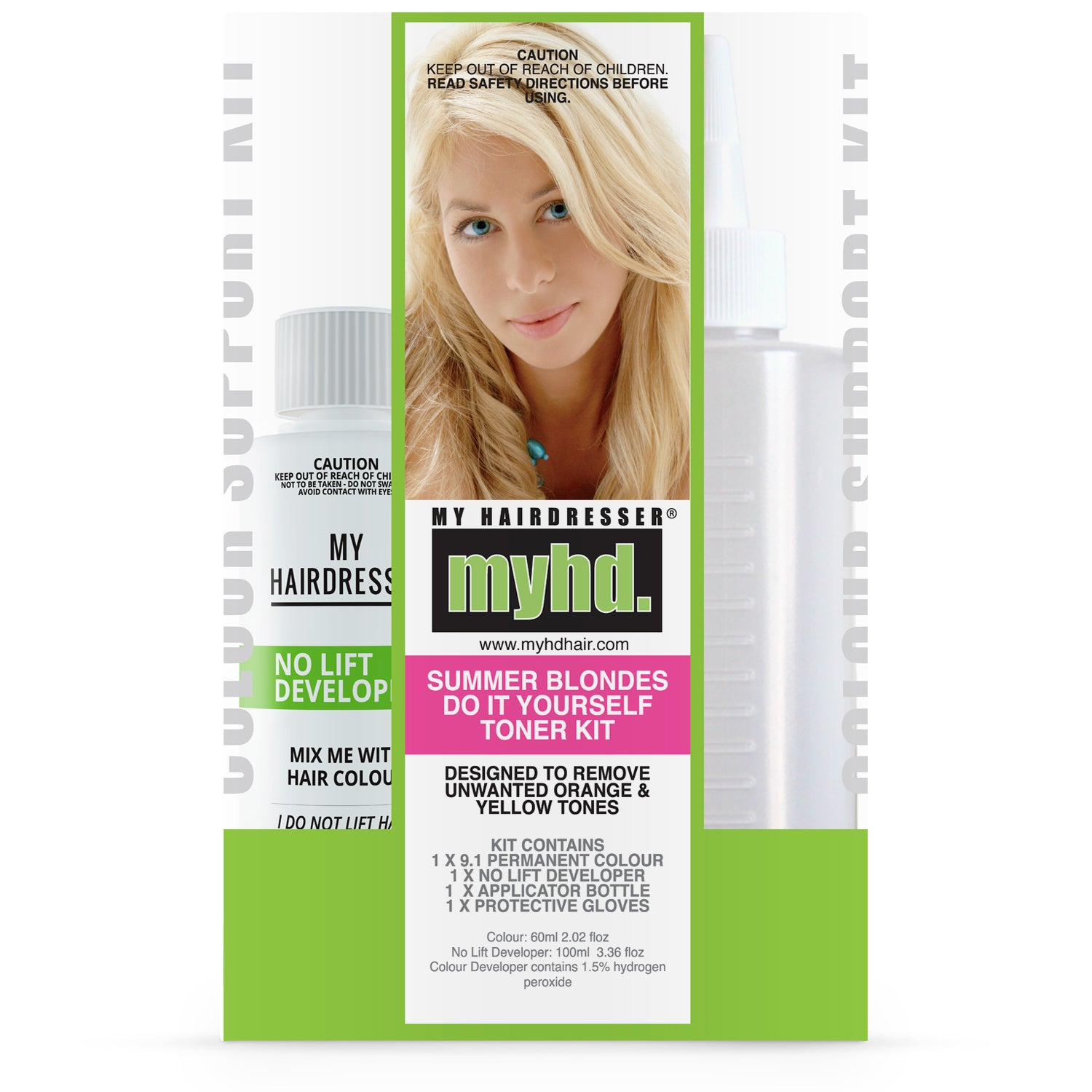 Hair colour remover toner kit pack my hairdresser online this is from your previous colour and developers and is a normal part of the process use the toner kit if you are happy with your colour remover result and solutioingenieria Choice Image