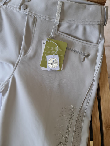 Samshield Sandra Womens Knee Grip Breeches - Beige NZ 14