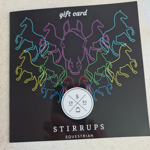 Stirrups Equestrian Gift Card or online Vouchers