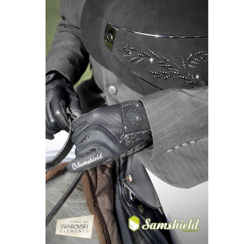 Samshield Swarovski Synthetic Leather Crystal Logo Gloves