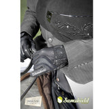 Samshield Swarovski Crystal Leather Logo Gloves