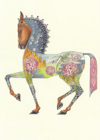 DM Collection Horse Card Watercolour on paper