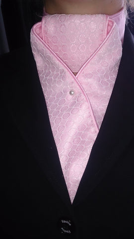 Stock Nash Hamilton Pink Lace Overlay Pre-tied 2168