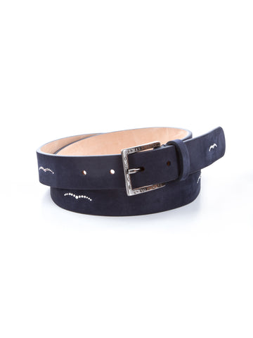 Animo Hemilie Navy Blue Leather Belt 18