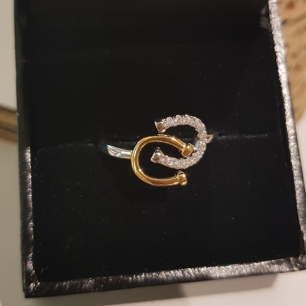 Sterling Silver Horse Shoe Ring