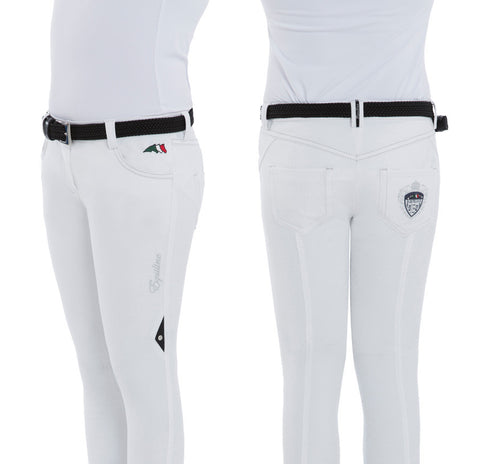 Equiline Myriam Girls Size Half Grip Breeches SS16
