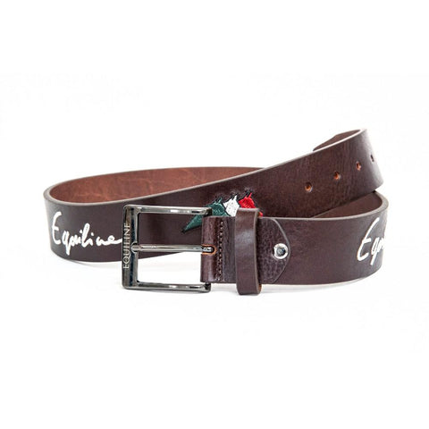 Equiline Logfil Embroidery Leather Belt