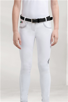 Equiline Taylor Girls White Size 10/11 Breeches