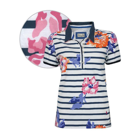 THOMAS COOK WOMENS TOOWOOMBA PRINT POLO