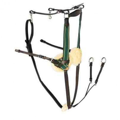 Stirrups 5-Point Breastplate - Brown