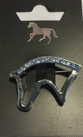 Diamonte Horse Brooch