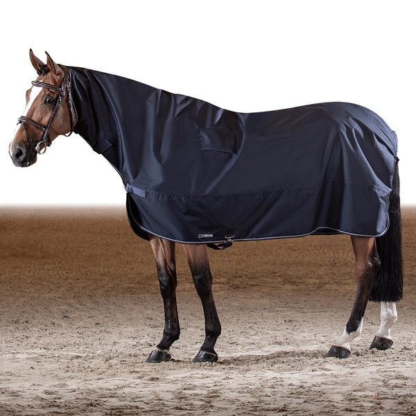 Equiline Corby Warm Up Full Neck Waterproof Rain Sheet - Navy Blue