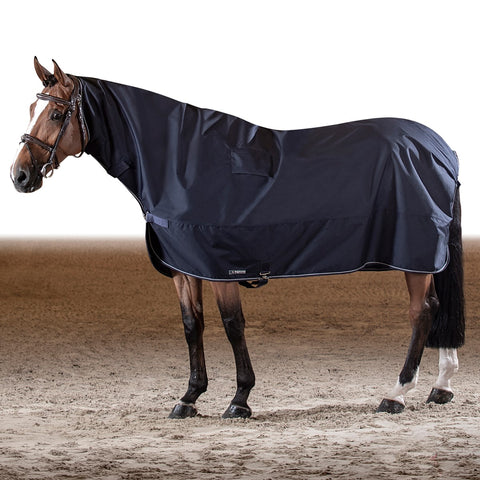 Equiline Corby Full Neck Waterproof Rain Sheet - Navy Blue