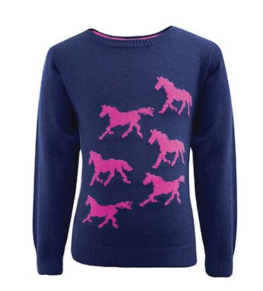 Thomas Cook Girl's Horse Knit Jumper