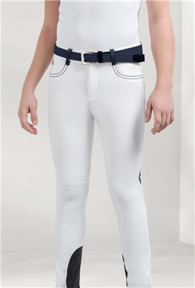 Equiline Luke Boys Breeches 10/11 Navy