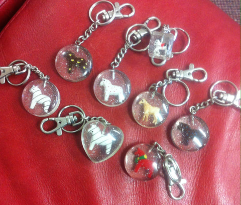 Assorted horse key rings