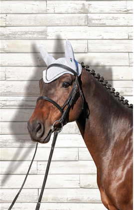 Equiline Rio Ear Net With Rhinestones and Piping