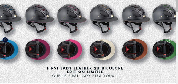 GPA First Lady Leather 2X Helmet