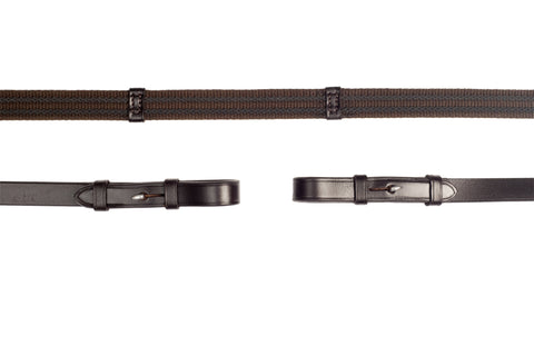 Schockemohle Continental 2 Row Rubber Grip Reins
