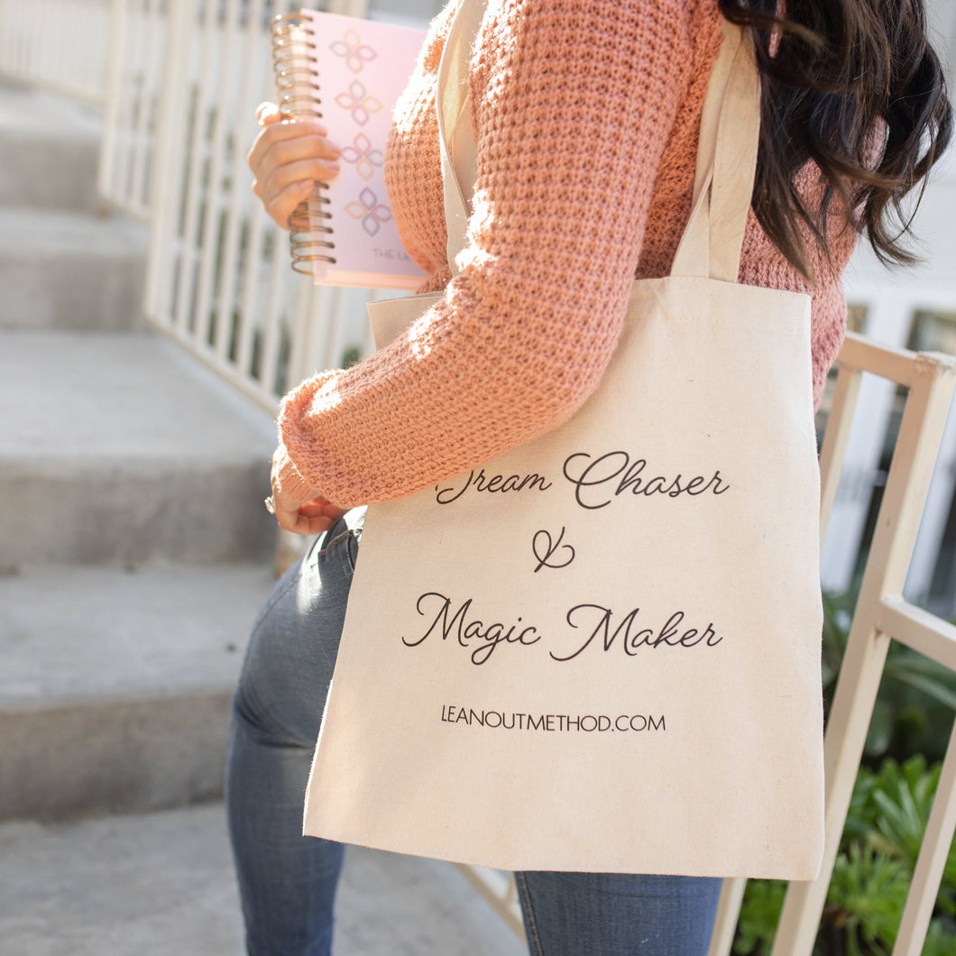 Cotton Tote - Dream Chaser & Magic Maker