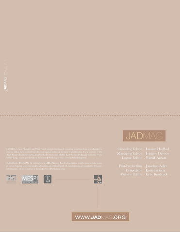 JADMAG Issue 7.1: Spring 2019