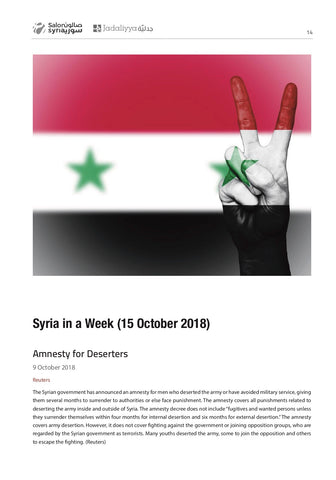 Syria Quarterly Report Issue 4: Oct/Nov/Dec 2018