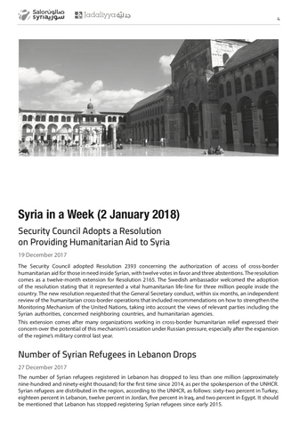 Syria Quarterly Report Issue 1: Jan/Feb/March 2018