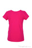 Girls soft cotton jersey short sleeve designer tee shirt in hot pink with a gold bow design