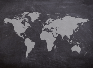 World Map Classroom Background