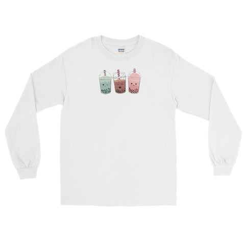 Kawaii Boba Tea-cher Long Sleeve Shirt