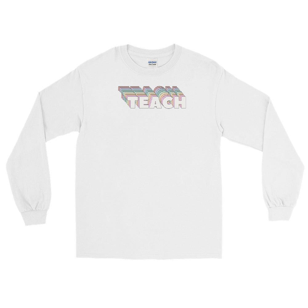 Pastel Rainbow Teach Long Sleeve