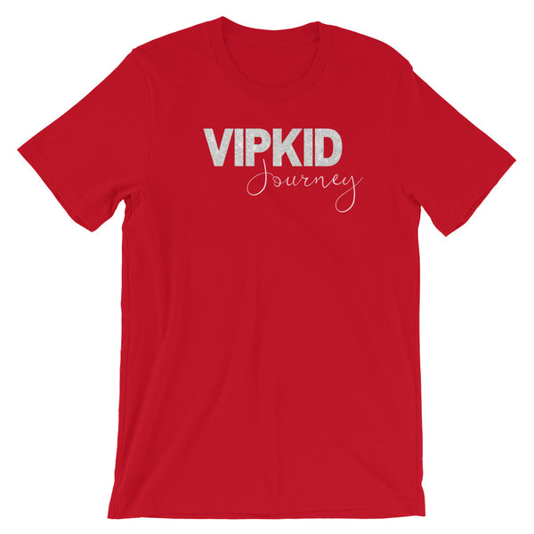 VIPKID White Glitter Faux Journey Teacher Shirt
