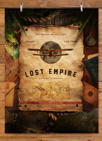 "Lost Empire Coffee Poster 18"" x 24"""