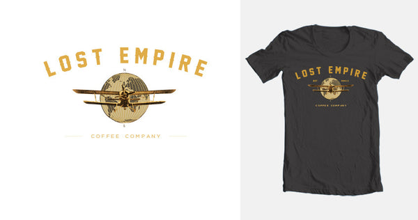 Lost Empire Coffee Logo T-shirt