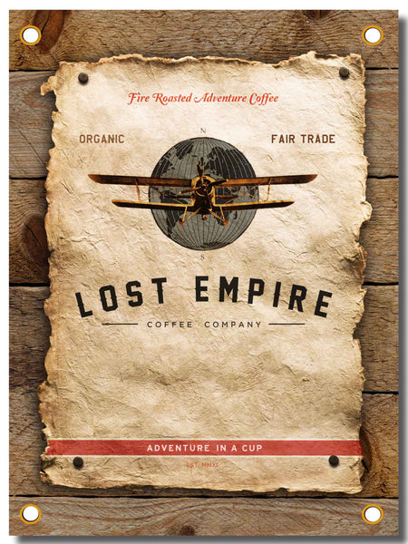 Vinyl Banner with Lost Empire Coffee Logo