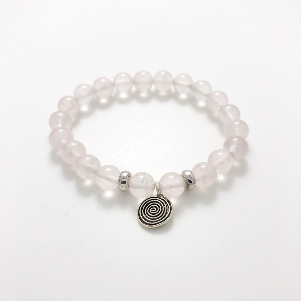Juliet 21 Bead Rose Quartz Meditation Bracelet