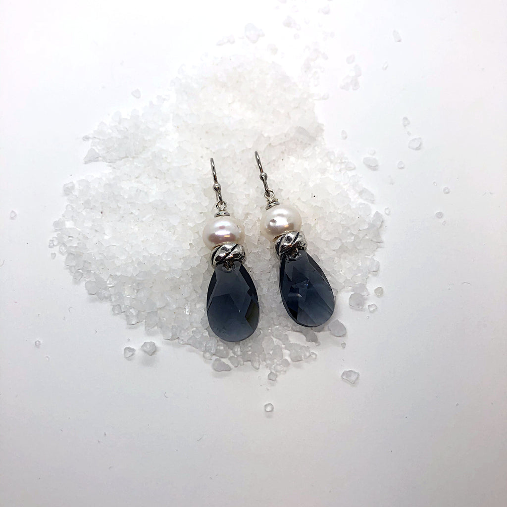 Graphite Swarovski Crystal Earrings