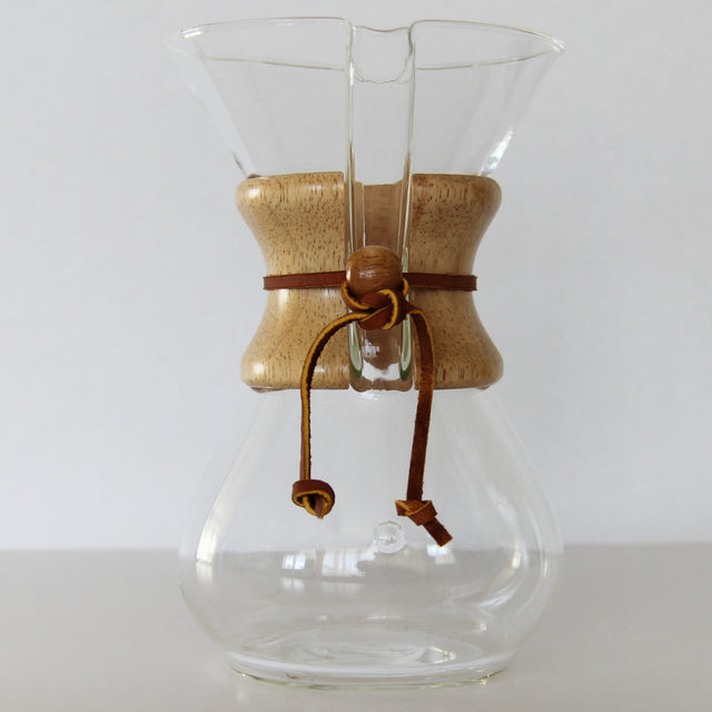CHEMEX COFFEE MAKER | 6 CUP | WOOD COLLAR